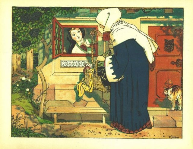 The Queen visits Snow White