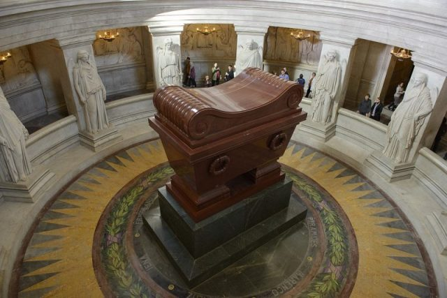 The sarcophagus of Napoleon Bonaparte. Photo by Son of Groucho CC BY 2.0