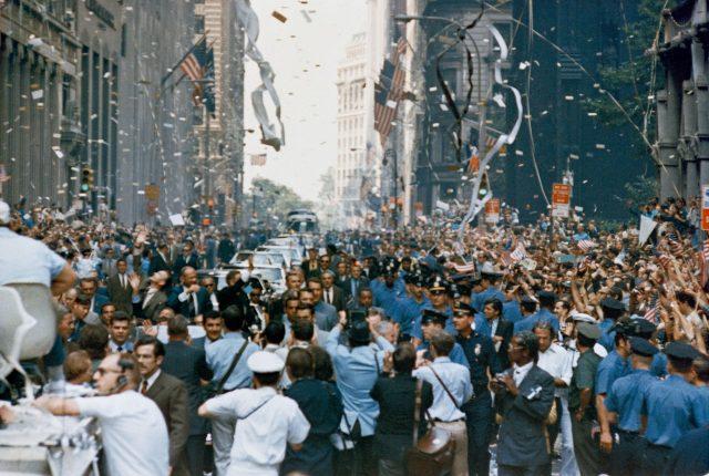 Ticker tape parade for the Apollo 11 astronauts