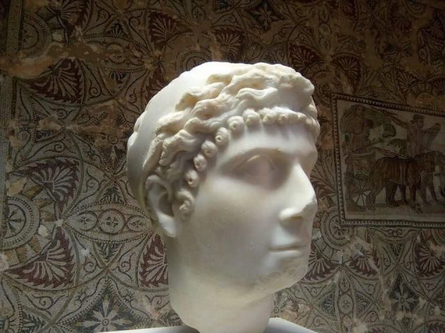 A Roman head of either Cleopatra.