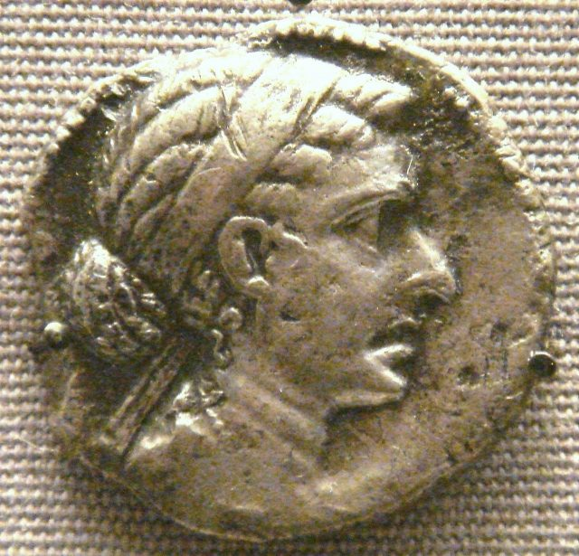 Cleopatra on a coin of 40 drachms from 51–30 BC, minted at Alexandria