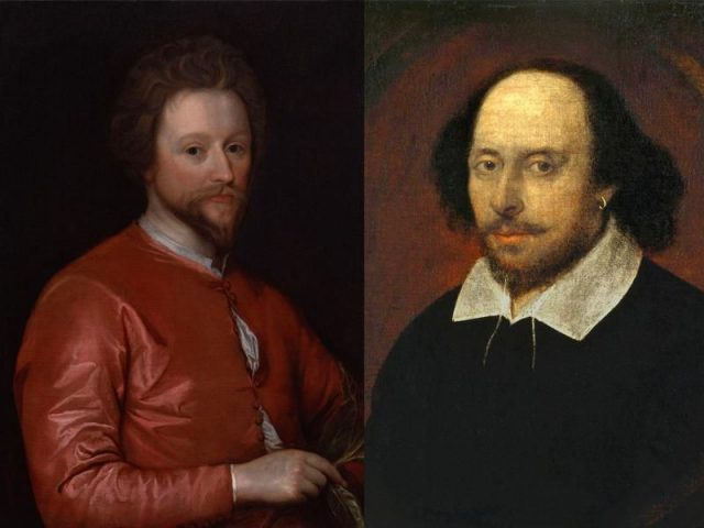 John Fletcher (left) and William Shakespeare (right) wrote The Two Noble Kinsmen around 1613 or 1614.