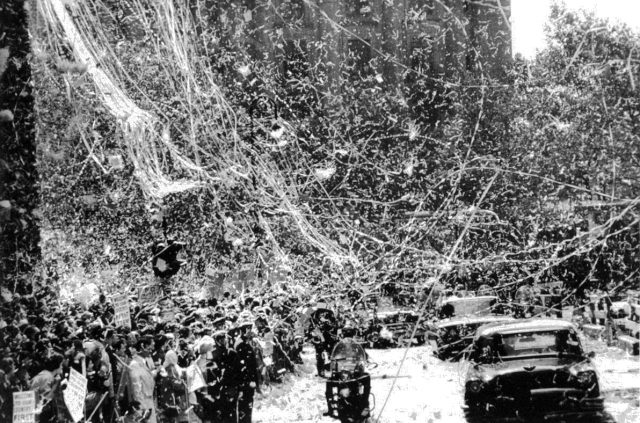 Ticker tape parade for presidential candidate Richard Nixon in New York in 1960