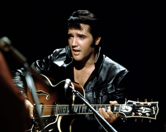 BURBANK, CA – JUNE 27: Rock and roll musician Elvis Presley performing on the Elvis comeback TV special on June 27, 1968. (Photo by Michael Ochs Archives/Getty Images)
