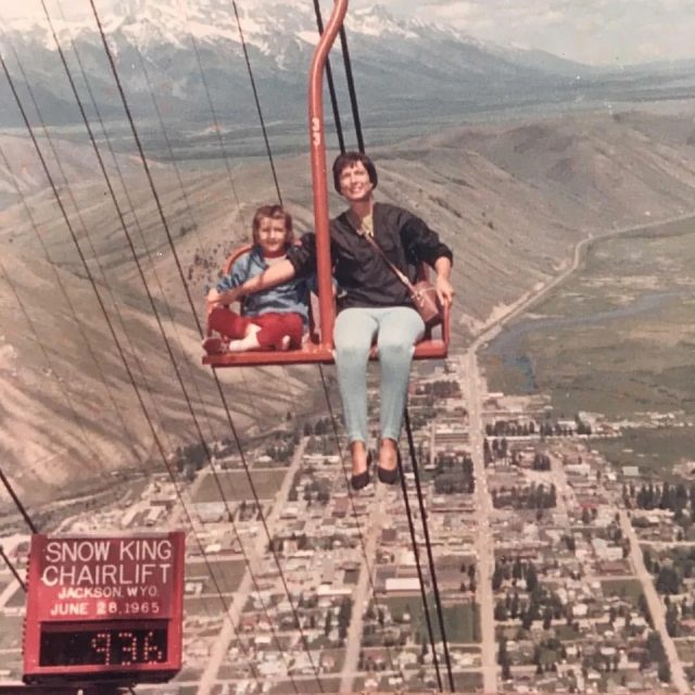 1960 کی دہائی میں سکی لفٹ۔