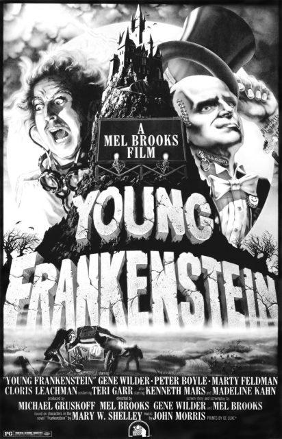 ینگ فرانک سٹائن پوسٹر ، ٹی ایم اور 20 ویں صدی کا فاکس فلم کارپوریشن تمام حقوق محفوظ ہیں۔ آرٹ ، 1974۔ (فوٹو کریڈٹ: ایل ایم پی سی بذریعہ گیٹی امیجز)