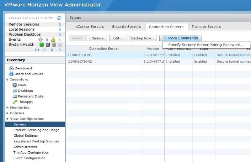 Part 3 | Installing VMware Horizon View 5 x Security Server