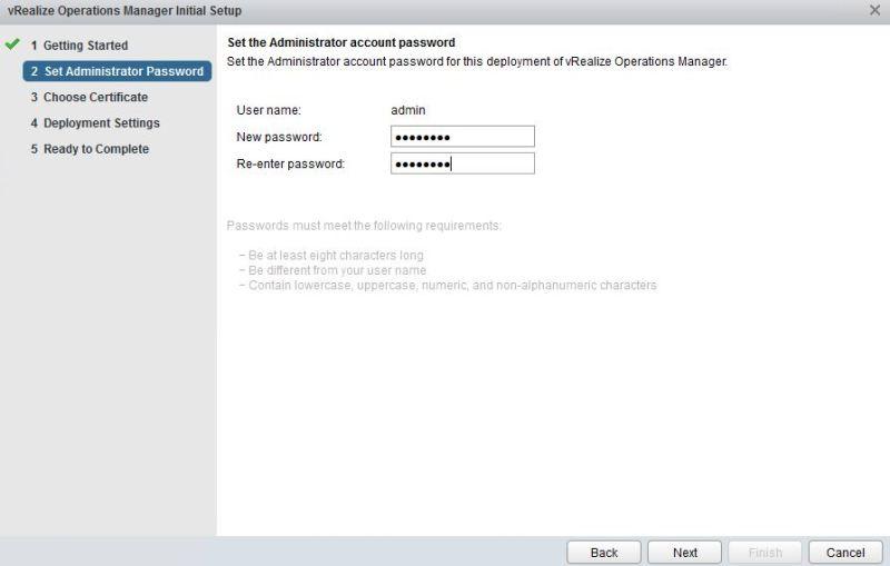 admin password