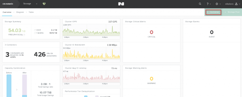 Create new NFS datastore for vSphere with NUTANIX - The
