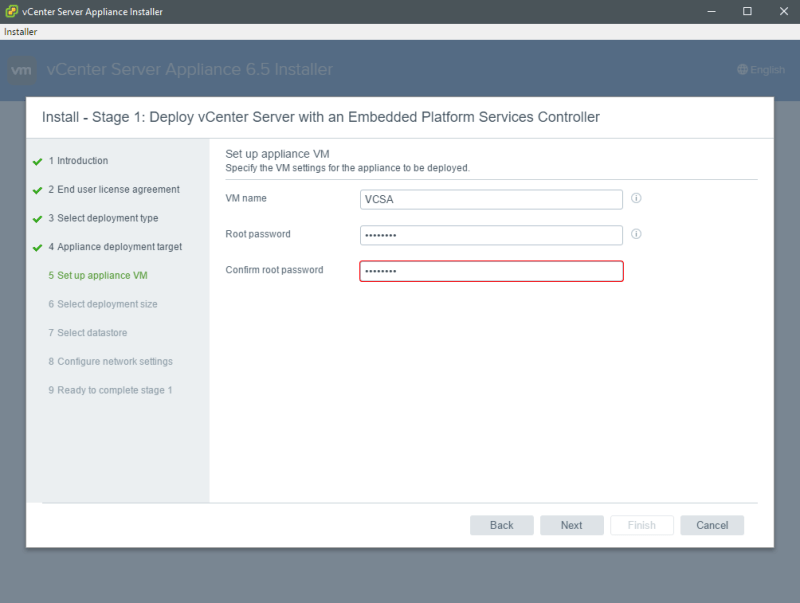 VMware vCenter Server Appliance 6 5 - Install and Configure