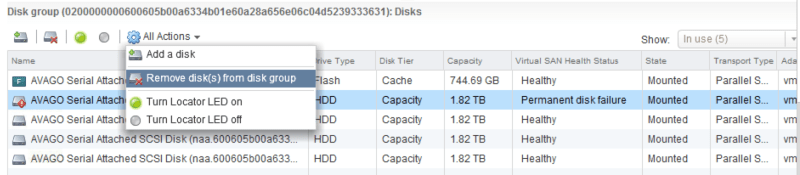 HDD failed in vSAN cluster (Softlayer) - how to replace it - The