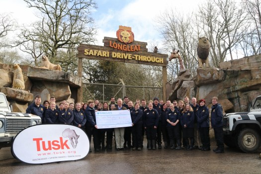 Tusk's Charlie Mayhew receiving a giant cheque from Longleat Safari Park (2000x1334)