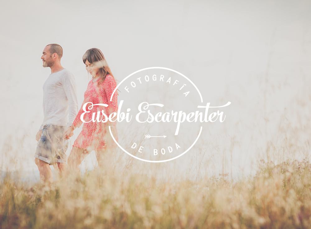 Eusebi Escarpenter fotografía de boda logotipo por The Visual Corner