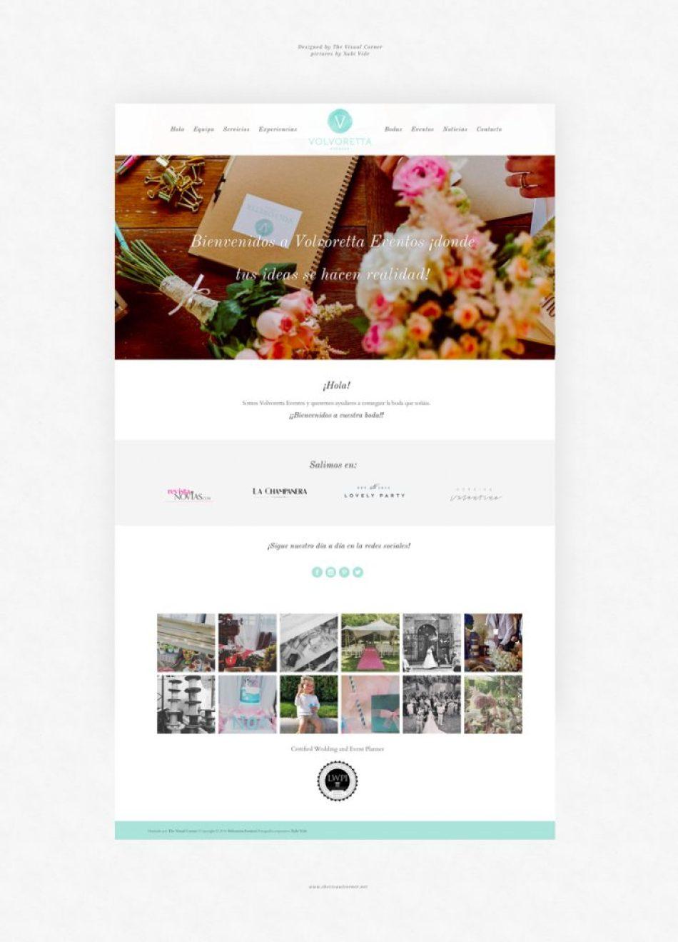 Diseño web para Volvoreta Eventos por The Visual Corner