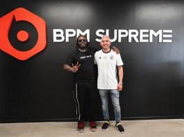 "(l-r) Musician T-Pain and Founder and CEO of BPM Supreme Angel ""AROCK"" Castillo (Photo by: PRNewsfoto/BPM Supreme)"