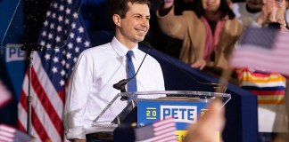 Pete Buttigieg announces his candidacy for the 2020 Democratic nomination for the presidency. (Photo by: Gary Riggs | Wikicommons)