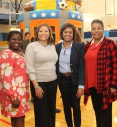 (l - r) Councilmember Kyonzté Toombs, MNPS Interim Superintendent Dr. Adrienne Battle, Councilmember Jennifer Gamble, and State Senator Brenda Gilmore. (Photo courtesy of Facebook)