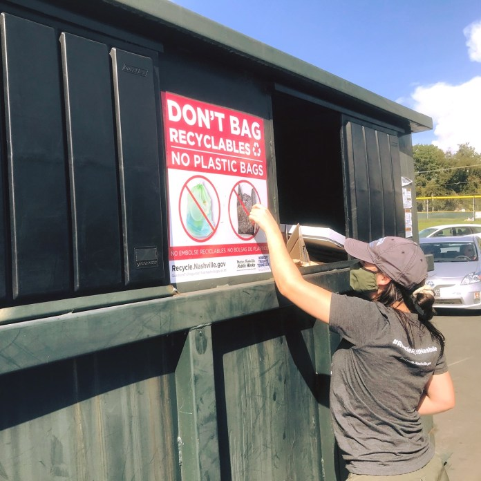 One of the Nashville recycling drop-off locations. (Courtesy Photo)