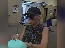 The woman, described by the FBI as either white or Hispanic, has robbed four banks across the East Coast since July 20. Federal authorities gave her the Pink Lady Bandit nickname because of the distinctive pink handbag she carried during at least two of her robberies, the FBI in Charlotte, North Carolina, said.