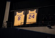 In light of the passing of Kobe Bryant his jersey was highlighted today, the morning of THE 62ND ANNUAL GRAMMY® AWARDS.