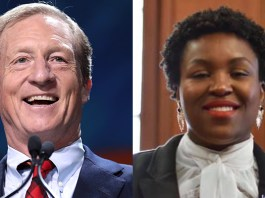 (l-r)Tom Steyer and Tequila Johnson