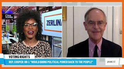 (l-r) Zerlina Maxwell and Rep. Jim Cooper