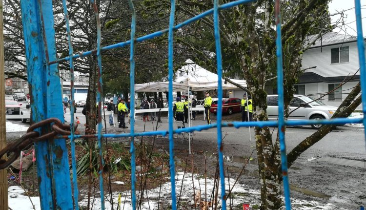 Anita Place Fence and Police