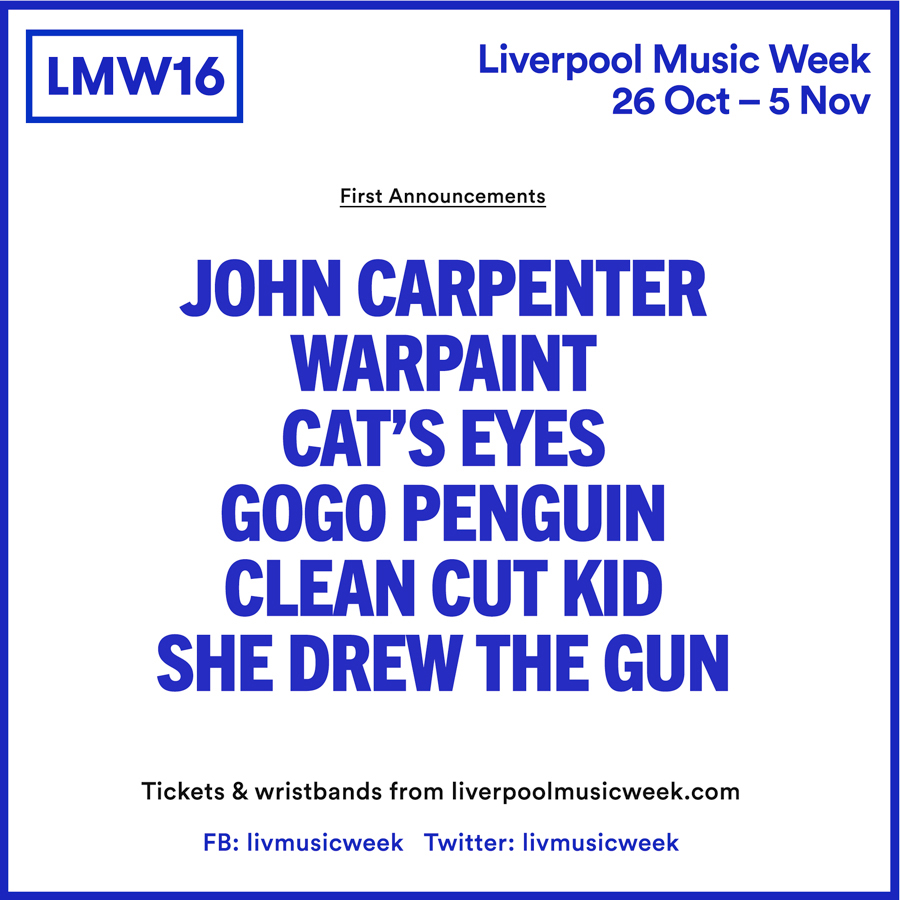 Liverpool Music Week 2016 First Wave