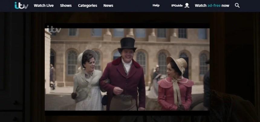 I am using ExpressVPN to stream Sandition on ITV online
