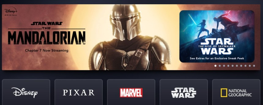 The Service Unavailable error on Disney+