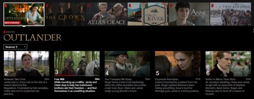 Outlander Netflix