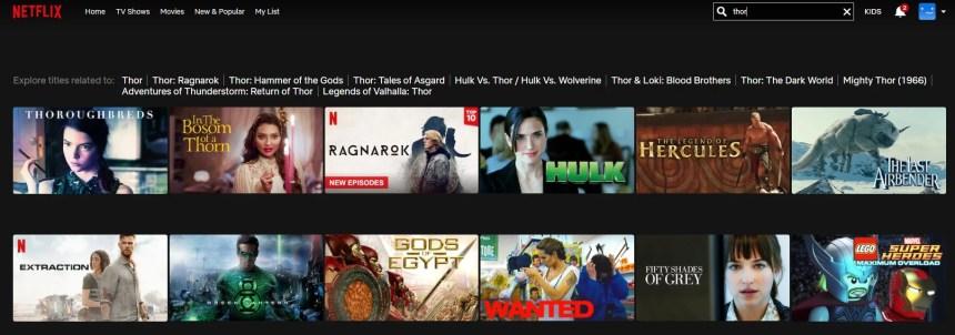 Thor The Dark World Netflix