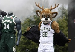 On Thursday, Aug. 10 Harley-Davidson and the Milwaukee Bucks unveiled official jersey patch partnership at the Harley-Davidson Museum in Milwaukee. The multi-year global agreement unites two of the world's favorite sports and reaches new, young adult audiences across the U.S. and around the world in over 200 countries and territories. (Darren Hauck/AP Images for Harley-Davidson)