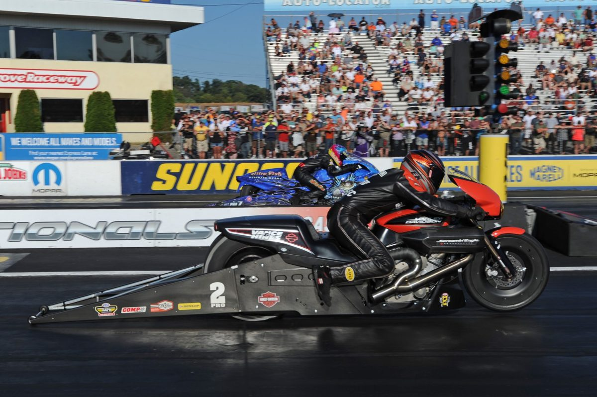 KRAWIEC AND HARLEY STREET ROD TAKE THIRD STRAIGHT NHRA PRO STOCK MOTORCYCLE WIN AT MAPLE GROVE