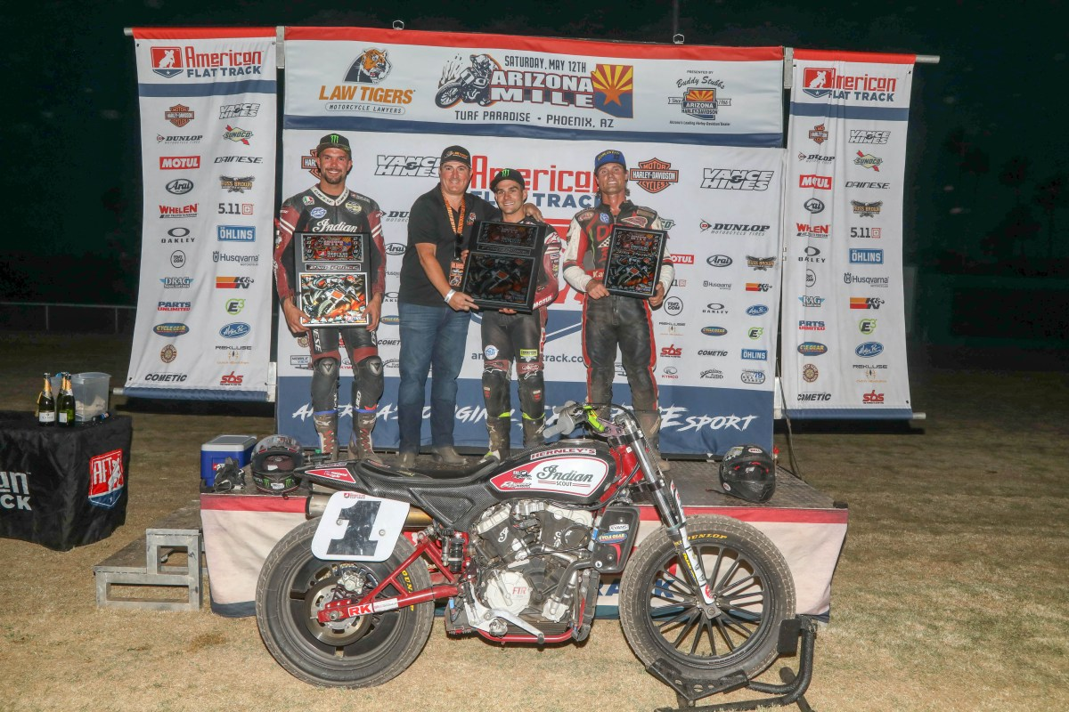 INDIAN MOTORCYCLE'S SCOUT FTR750 SECURES SECOND CONSECUTIVE PODIUM SWEEP