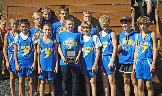 The Lincolnview Junior High School boys' cross country team finished first at Edgerton. (photo submitted)