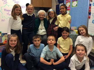 """The first grade class with Norma """"Toddy"""" Rozelle-Diers. (Photo submitted.)"""
