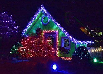 The Butterfly House at the Children's Garden in Smiley Park sports hundreds of lights as part of the Christmas Garden event held during the Christmas holidays. The event is only one of many in the Van Wert area during the holidays. VW independent file photo