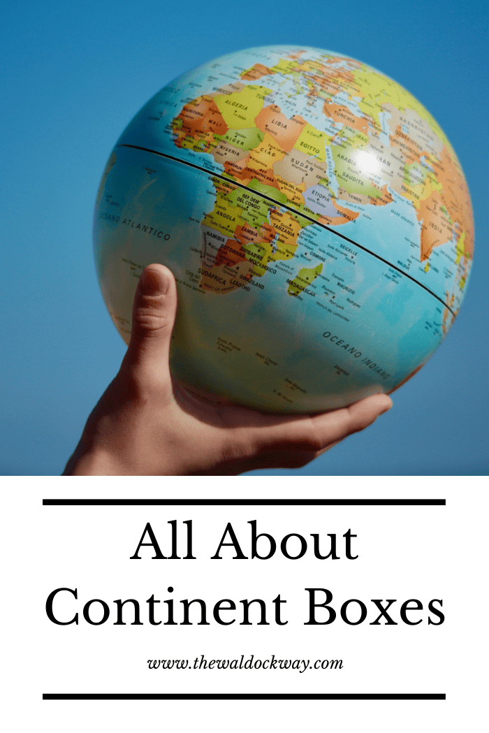 Continent boxes are a great way to introduce geography to your children in a fun and hands on way.