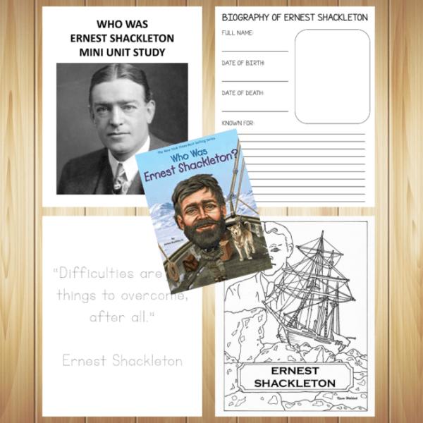 Who Was Ernest Shackleton Unit Study