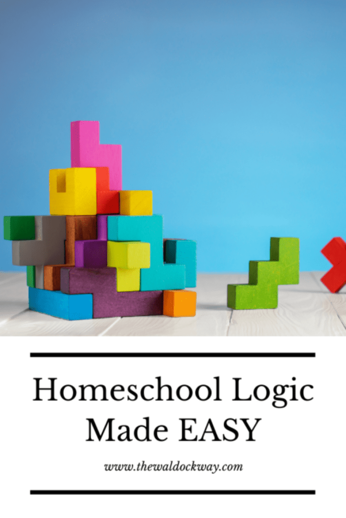How to easily add logic to your homeschool days. We all know logic is important but do we really need one more thing to teach in our homeschool?
