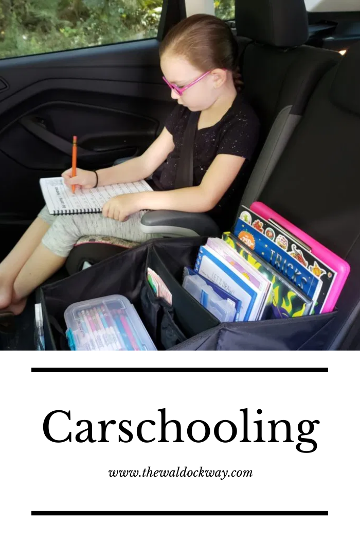 Do you spend a lot of time on the go? Feel like you are always in the car? Carschooling is a great thing to implement to facilitate learning on go!