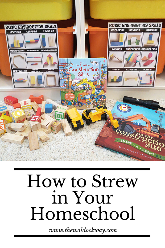 Strewing is a great way to present learning opportunities for your kiddos. Strewing is a great way for children to facilitate their own learning.