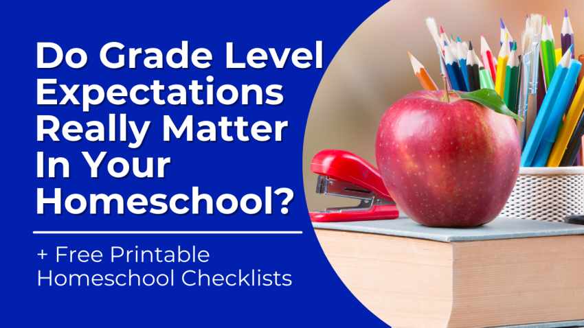 The truth is that grade levels aren't all that important for most homeschool students. However, I do think it's a good idea to be aware of grade level goals and targets when you're doing homeschool planning. Especially if you're anything like us and prefer to dabble in curriculum or use resources instead.
