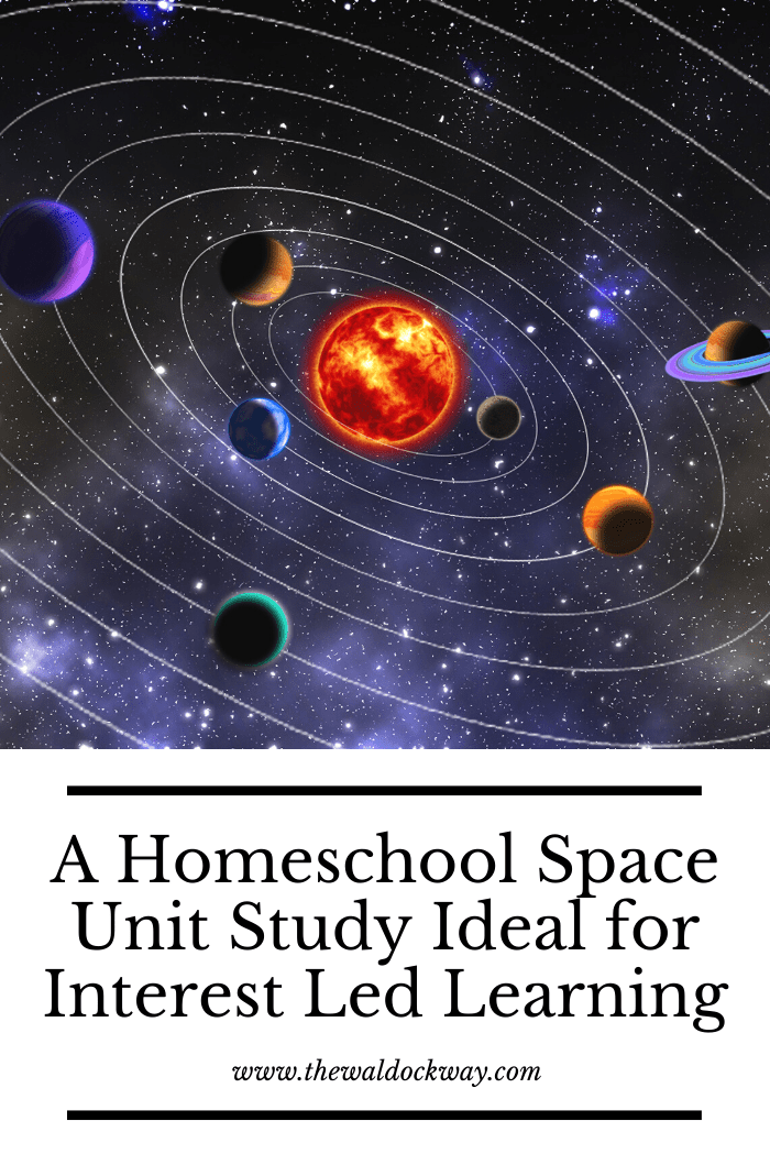 Are your kids interested in Outerspace, planets, or astronomy? If your kids dream of being astronauts, you're going to love this homeschool space unit study. It's ideal for homeschool families practicing interest-led learning because you can use as much or as little as you like to satisfy their curiosity.