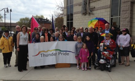 A Proud Start Flag-Raising Ceremony Kicks Off Thunder Pride 2013