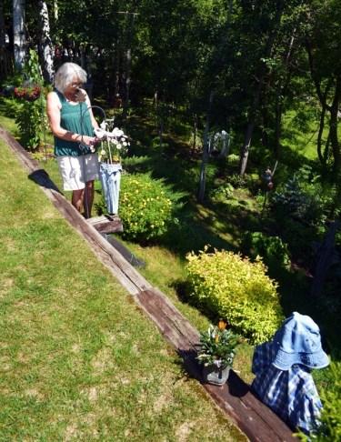 Jeanne Adams in her Jean Street garden.