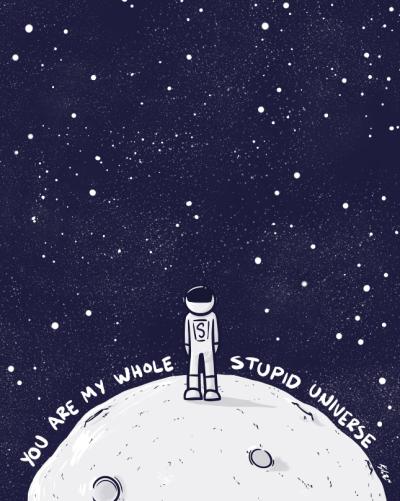 Kyle Lees, Giant Size Stupid Universe, 2016, digital print, 41 x 51 cm
