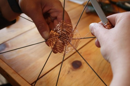 Weaving copper to make a box (see featured image)