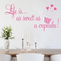 Life is as Sweet as a Cupcake Wall sticker decals